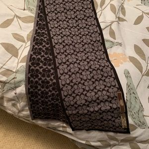 Coach reversible black and grey scarf!